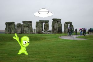 Alien at Stonehenge